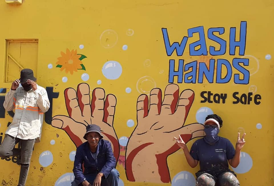 Young Africa Botswana Brings Murals of Hope in Times of COVID-19